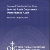 S&WBNO Internal Audit Department Performance Audit
