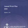 OIG 2020 Annual Work Plan