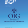 OIG Monthly Report - August 2021